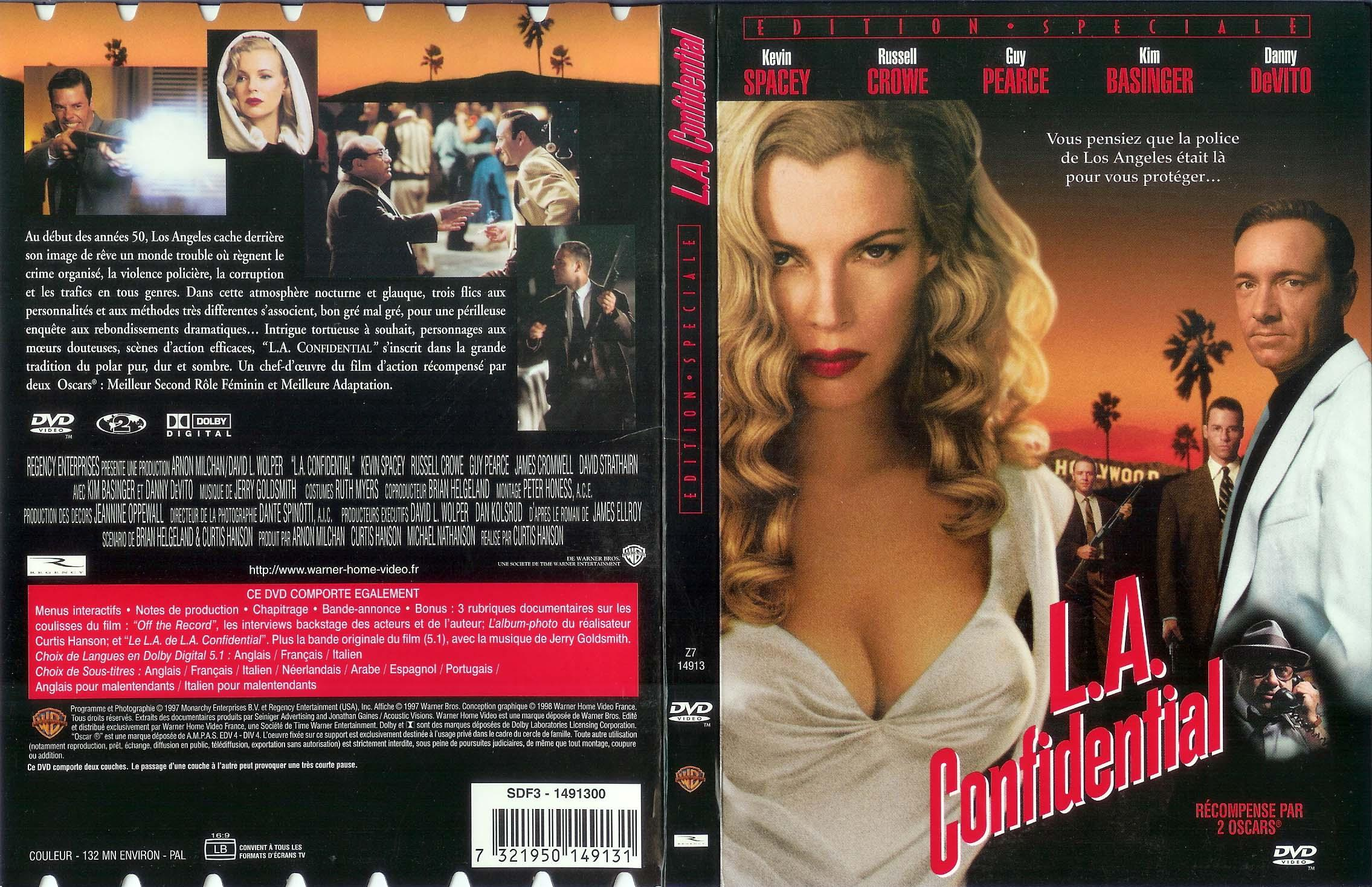 contrasting atmosphere between la confidential the La confidential is a 1997 american neo-noir crime film directed, produced and co-written by curtis hansonthe screenplay by hanson and brian helgeland is based on james ellroy's 1990 novel of the same name, the third book in his la quartet series.